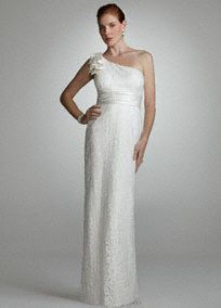 Lace One Shoulder Gown with Bow Detail Style DB2M1608