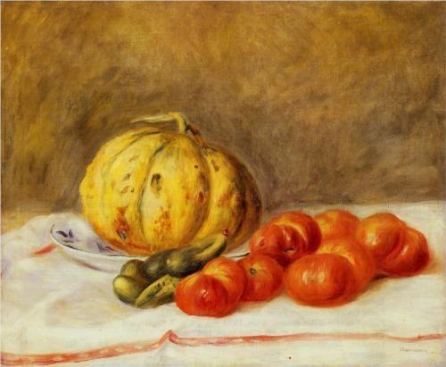 Melon and Tomatos - Pierre-Auguste Renoir