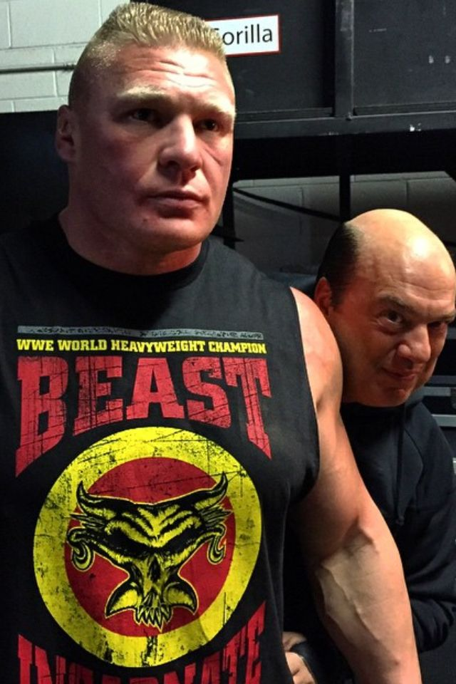 WWE World Heavyweight Champion Brock Lesnar w/Paul Heyman ...