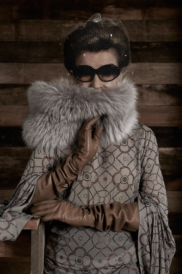 Si. Costanza Pascolato This dress! The gloves! That fur! Everything!