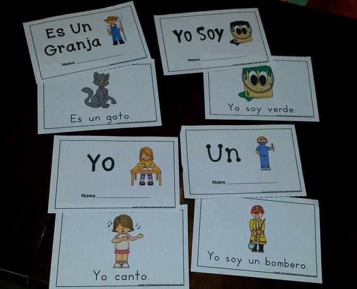 Lectores emergentes con palabras de alta frecuencia. Emergent readers in Spanish.