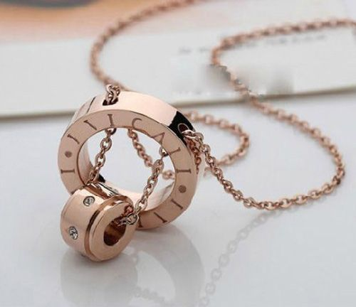 Cheap pendant necklace for men, Buy Quality necklace shop directly from China necklace beach Suppliers: Fashion Brand Titanium Steel Plated Gold/Rose Gold Carter Love Ring For Men/Women Bulgaria Anillos Fine Jewelry couple r