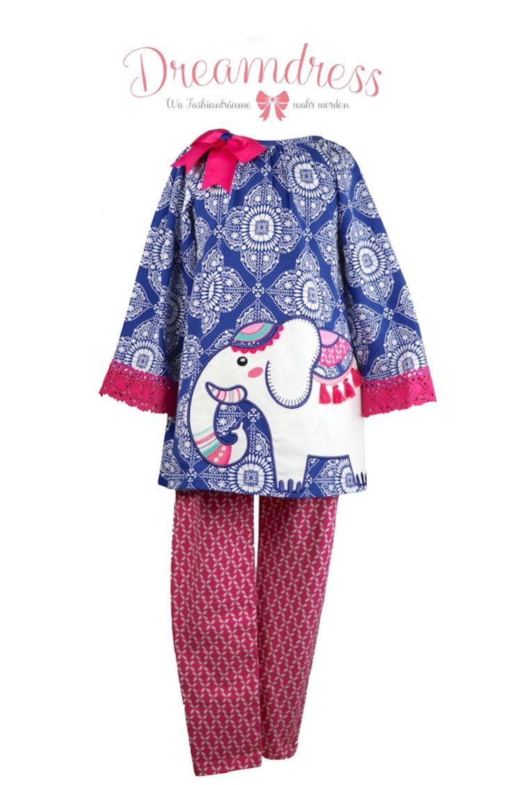 Legging Set für modische Mädchen.  #leggingset, #mädchenmode, #elefant, #rareEditions, #tunikatop #littleDiva, #littlefashionista