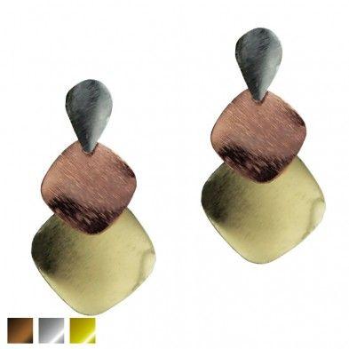 B.Oreilles cascades métaliques 3 tons - 1