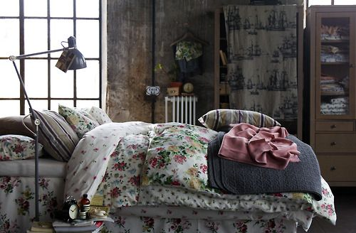 ikea - floral bedspreads.