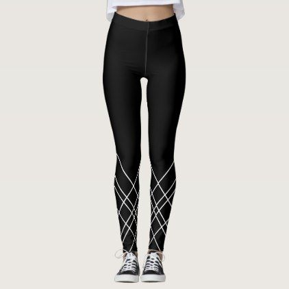 Abstract geometric pattern - black and white. leggings - pattern sample design template diy cyo customize