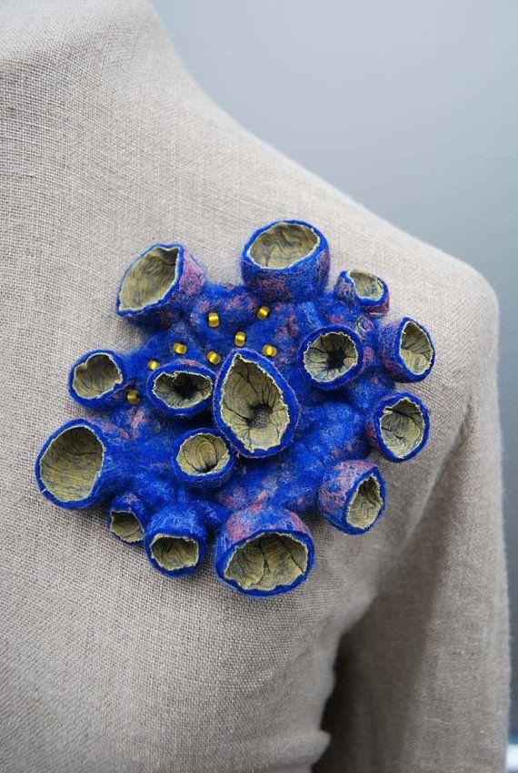 Felted brooch by Sassafras Design