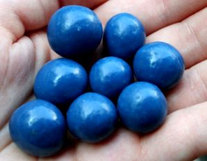 Tickleberry, a blueberry coated in milk chocolate, by 2012 Circle Craft Christmas Market exhibitor, Tickleberry's.