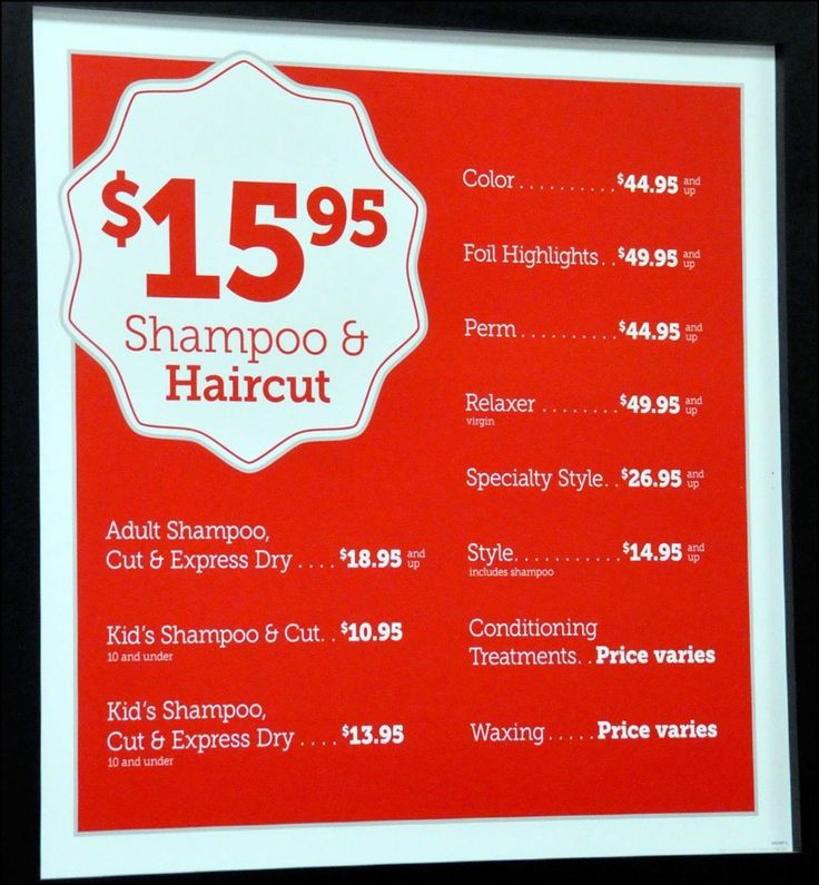 Smartstyle Haircut Prices