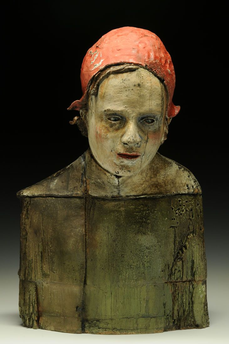☥ Figurative Ceramic Sculpture ☥ Thaddeus Erdahl | Red