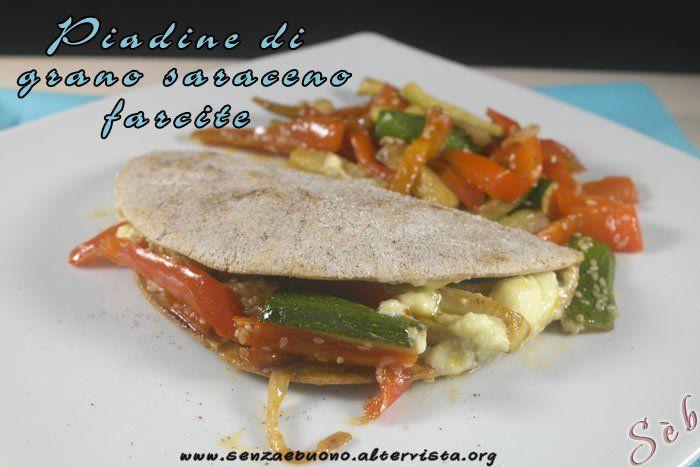 Piadine di grano saraceno senza glutine e vegan con farine naturali  http://www.senzaebuono.it/piadina-di-grano-saraceno-vegan-senza-glutine/