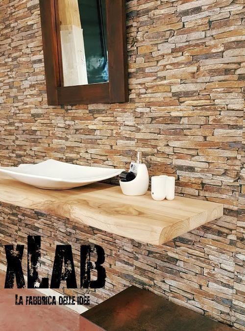 Mensola piano lavabo da bagno originale prodotto artigianale italiano xlab