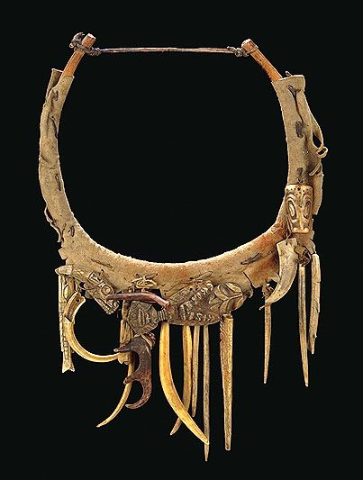 A Shaman's necklace that carries healing charms. Collected from Haida Gwaii, BC, Canada in 1899