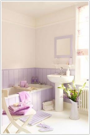 bathroom light purple
