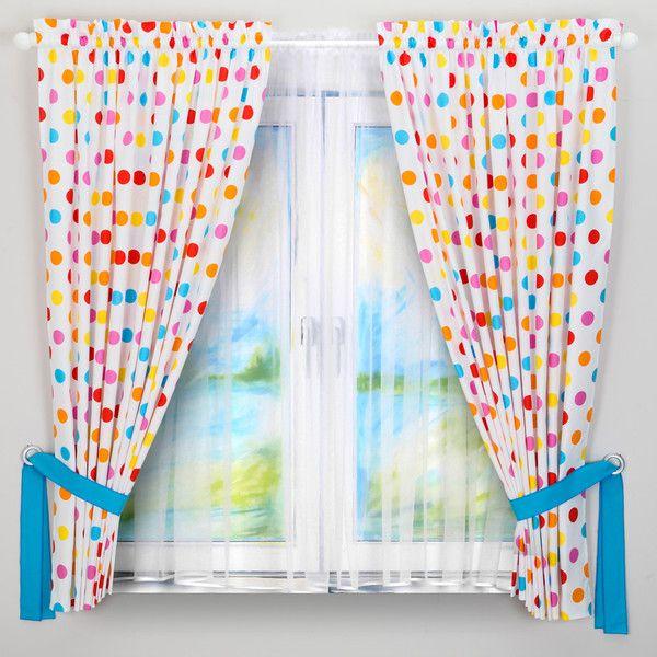 Zasłonki + kolorowe szarfy 155x225 cm - Dream-zzz - Firanki i zasłony dla dzieci