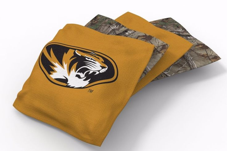 Missouri Tigers RealTree Camo Bean Bags-4pk (B)