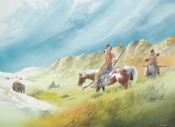 Patrick Prugne - Pawnee, Illustration originale