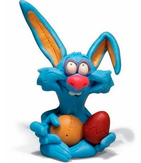 детские поделки из пластилина кролик