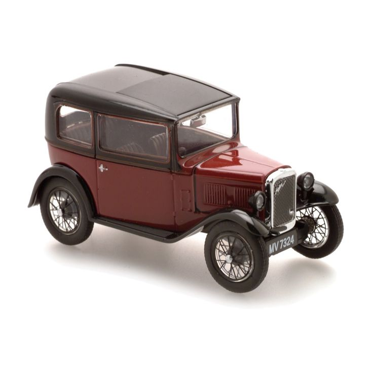 Austin Seven RN Saloon. With authentic detailing and a colour scheme appropriate to the period, this is a 1:43 scale die-cast replica of a car nicknamed the 'Baby Austin', one of the most popular ever produced for the British market.