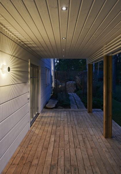Turbine är en armatur från Hide-a-lite som ger en fantastisk ljuseffekt på väggar både utomhus och inomhus