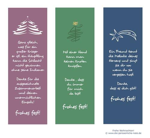 Adventskalender 2014: 24 kleine Wortgeschenke - Kostenloses Lesezeichen-Set (dreiteilig, weihnachtliches Design)