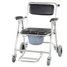 Rehabilitation health supplies Medical Devices Mobile Commode Chair with 4 brakes, Wheels & Footrests Wheelchair Toilet //Price: $US $309.99 & FREE Shipping //