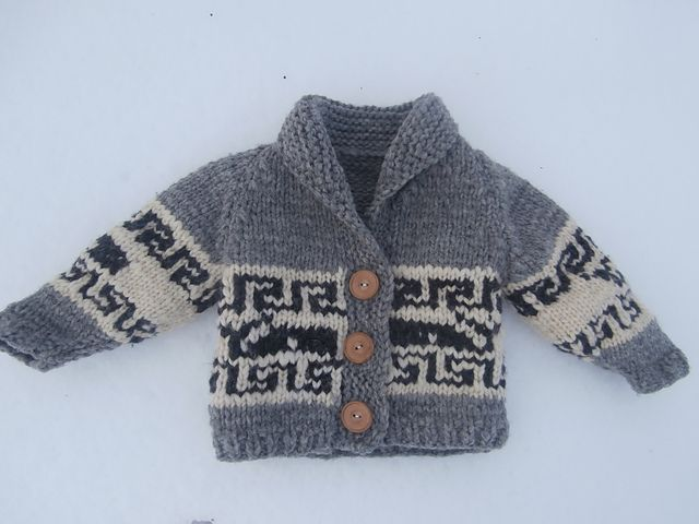 Ravelry: Free Northern Whale Cowichan Sweater- Toddler's Cardigan pattern by Kristen Cooper