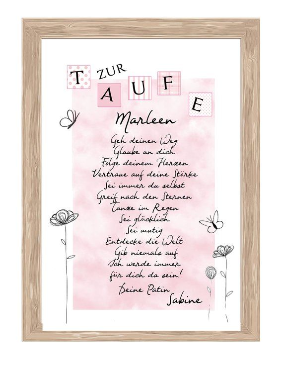 Taufbrief Godfather gift for baptism 32