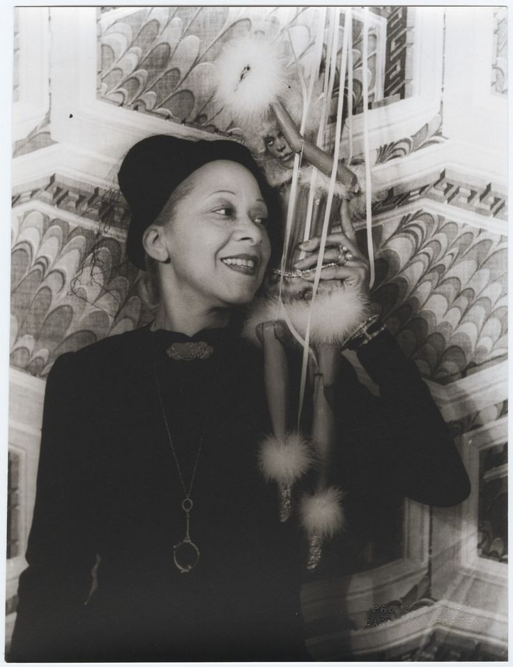 Nora Holt, photographed with a marionette by Carl Van Vechten on August 29, 1937, was first African American to earn a master's degree in music (Chicago Musical College, 1918) She was a music critic for two preeminent black newspapers, the Chicago Defender and the New York Amsterdam News