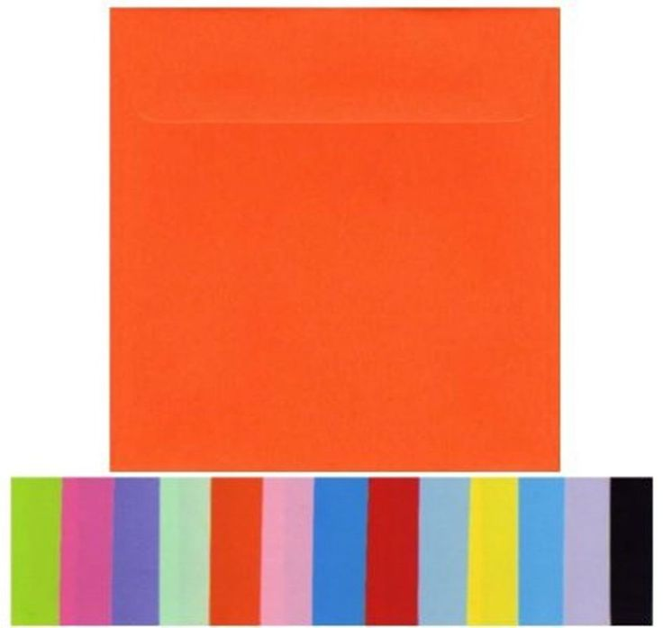NEW 160mm Square Envelopes (20) High Quality Smooth Flat Colours 16cm x 16cm