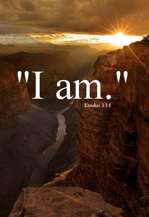 "Exodus 3:14 New International Version (NIV) 14 God said to Moses, ""I am who I am.[a] This is what you are to say to the Israelites: 'I am has sent me to you.'"""