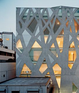 The Tod's building designed by Toyo Ito in 2004.
