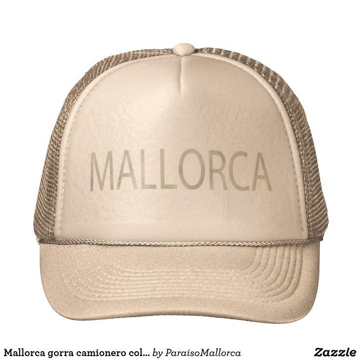 Mallorca gorra camionero color arena