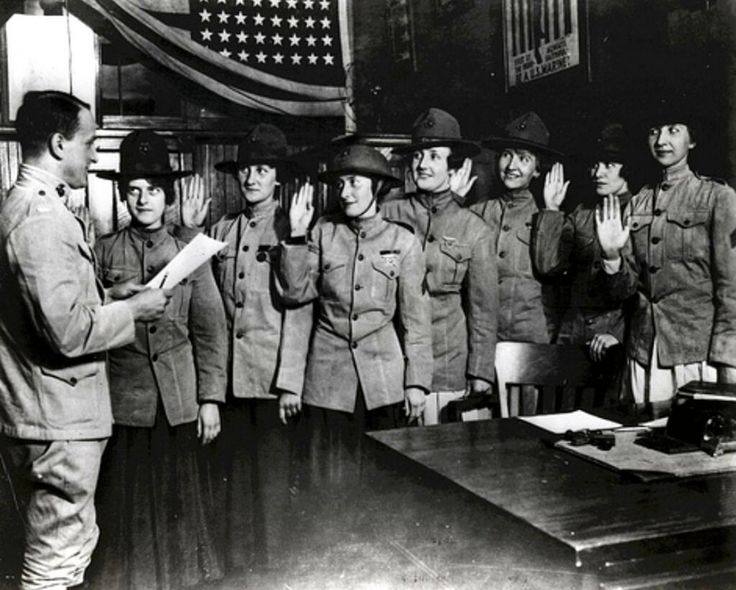 Some of the Most Influential Women pic: First women sworn into the U.S. Marine Corps: