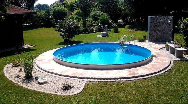 Mit Einem Tollen Pool Wird Jeder Garten Zu Einem Echten Highlight Round Pool Swimming Pool Designs Garden Pool