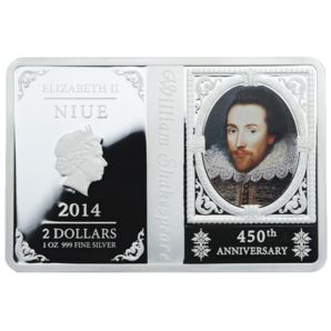 Niue - 2014 - 2 Dollars - 450th Anniversary William Shakespeare - Niue - Oceanie & Australia