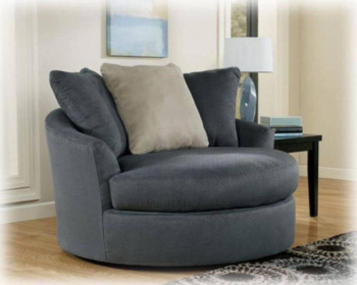 MINDY   INDIGO OVERSIZED ROUND SWIVEL CHAIR Part 81