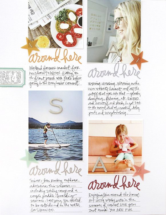 Around Here at Ali Edwards using the Prompts Story Stamps™ #scrapbook #memorykeeping