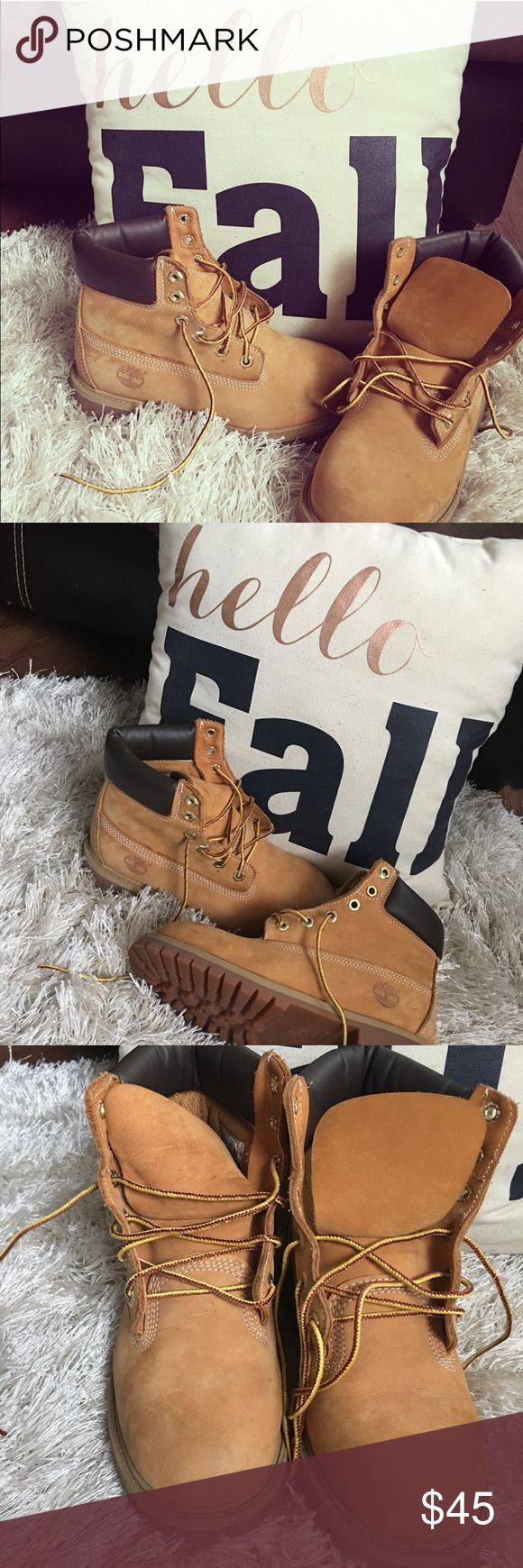 Wheat Timberland Fall Boots  Wheat Timberland Boots only worn a couple times. Size 4M Timberland Shoes Boots