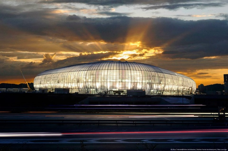 Grand Stade Lille Metropole (50,186).  New home for french football club Lille