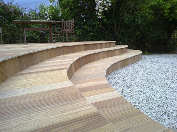 Best Curved Deck With Stairs No Railing Outside Pinterest 400 x 300