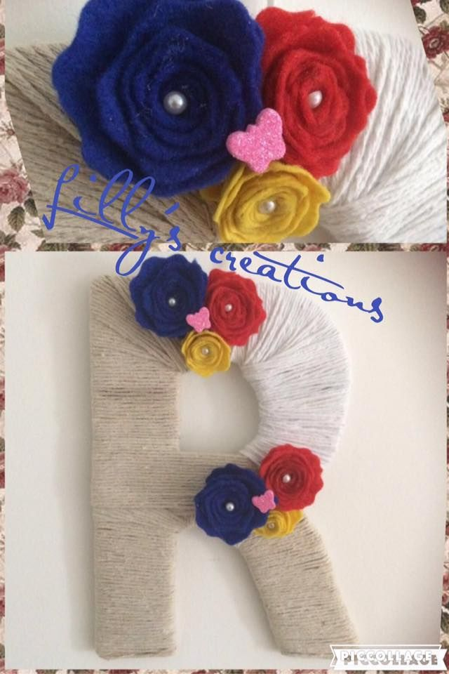special gift with felt flowers