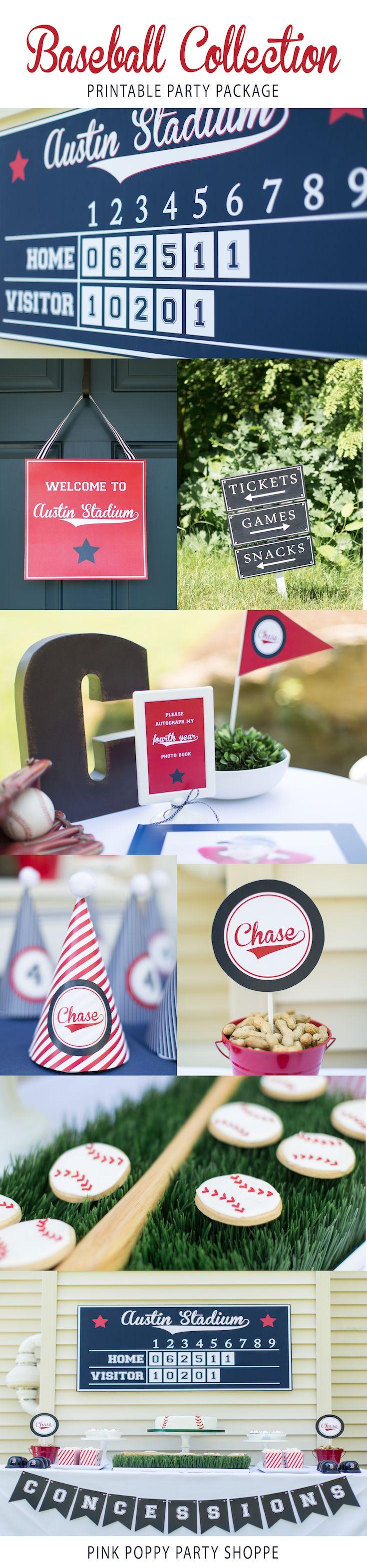 Baseball Themed Birthday Party | Baseball Printables | Red Sox Party
