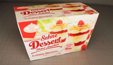 Sahne Dessert – Kleiner Augenblick – Himbeer-Mascarpone von der Conditorei Coppenrath & Wiese
