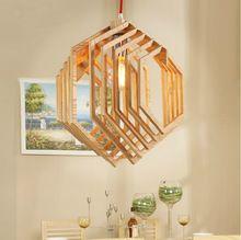 2015 Yeni Geliş Tasarım Art Deco Karakter Avrupa Ikea Ahşap Led Işık Kolye Yaratıcı Yemek Odası Kırmızı Kordon Edison Kolye Işık (Çin (Anakara))