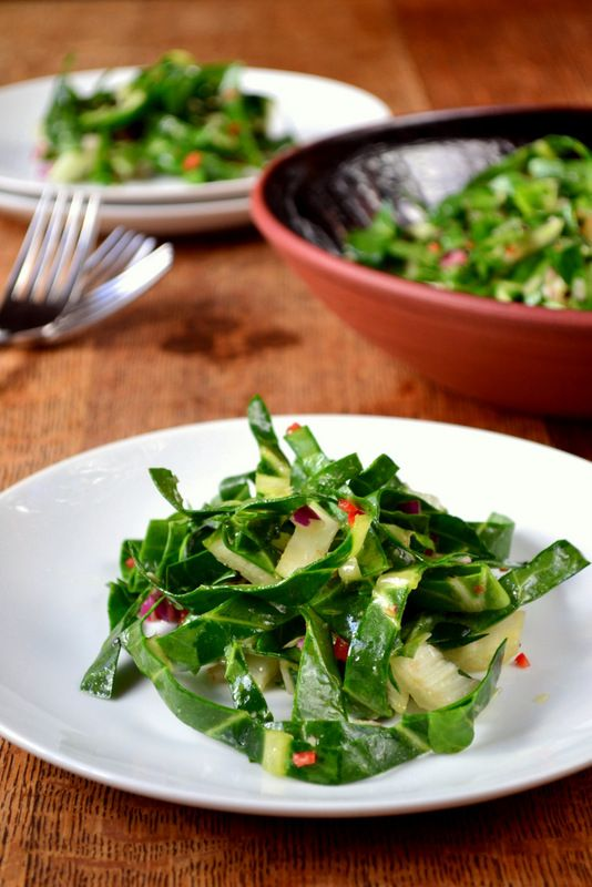 Swiss Chard Salad - just made for dinner and it was delish!!