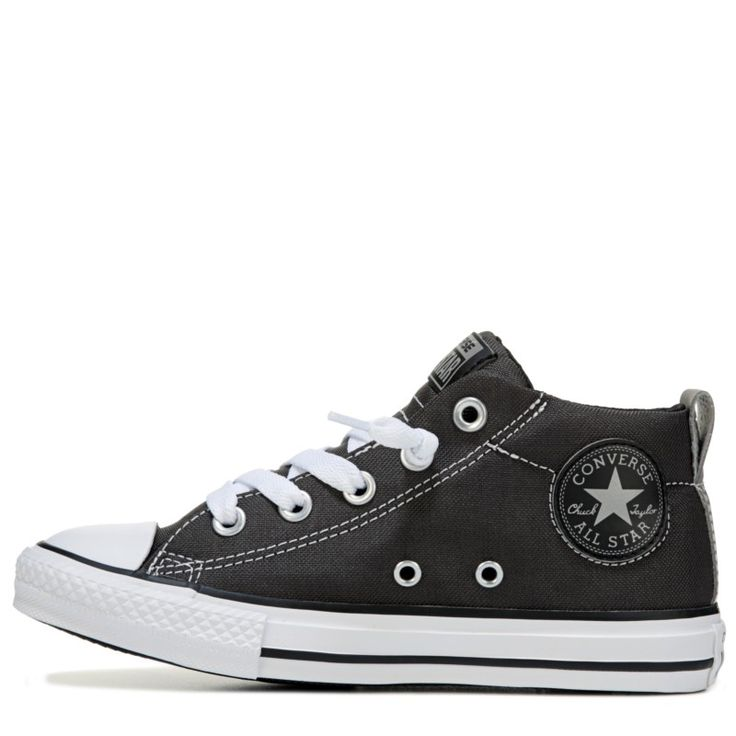 Converse Kids' Chuck Taylor All Star Street Mid Top Sneakers  (Grey/Reflective)