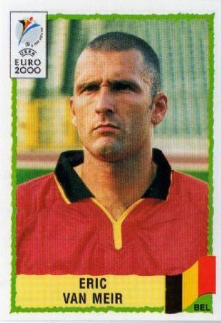 Eric van Meir of Belgium. Euro 2000 card.
