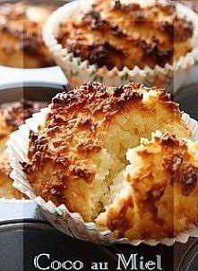 Zobacz zdjęcie Coco au Miel - Ciastka kokosowe Składniki (10 ciastek):   • 1 i…