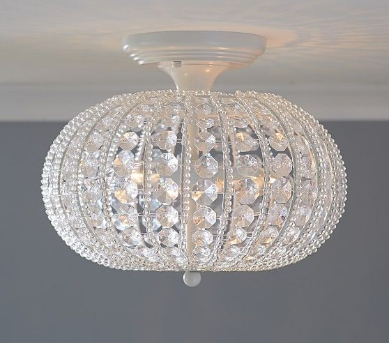 Clear Acrylic Round Flushmount Chandelier | Pottery Barn Kids This fixture does some cool things to your walls!